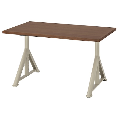 IDÅSEN Desk, brown/beige, 120x70 cm