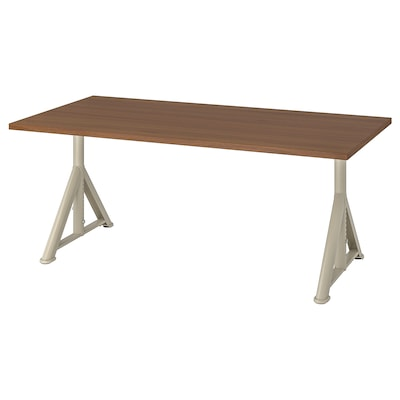 IDÅSEN Desk, brown/beige, 160x80 cm