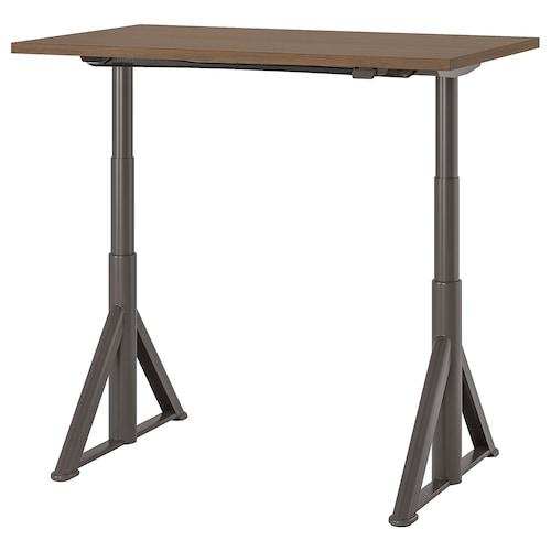 IDÅSEN desk sit/stand brown/dark grey 120 cm 70 cm 63 cm 127 cm 70 kg