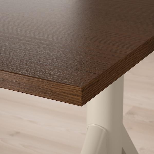 IDÅSEN desk sit/stand brown/beige 120 cm 70 cm 63 cm 127 cm 70 kg