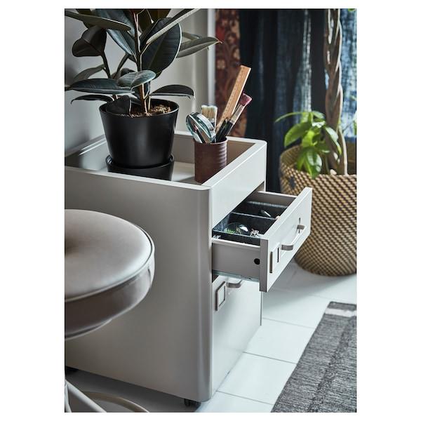 IDÅSEN drawer unit on castors beige 42 cm 47 cm 61 cm