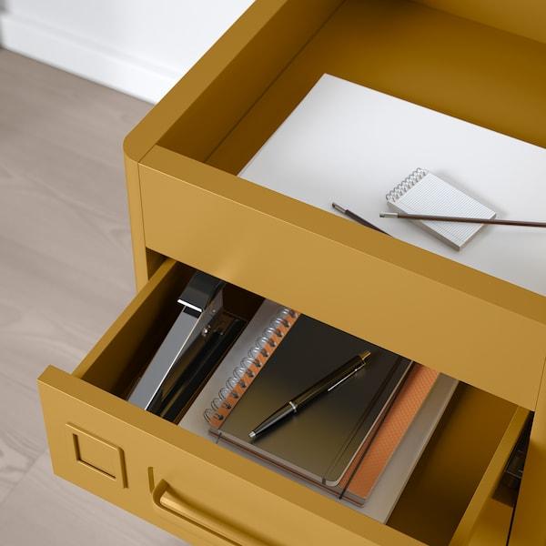 IDÅSEN drawer unit with smart lock golden-brown 42 cm 47 cm 61 cm