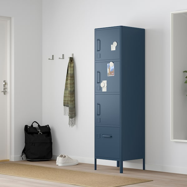 IDÅSEN high cabinet with smart lock blue 45 cm 47 cm 172 cm