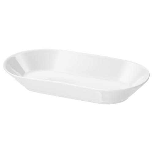 IKEA 365+ serving plate white 24 cm 13 cm 4 cm