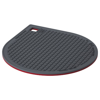 IKEA 365+ GUNSTIG Pot stand, magnetic, red/dark grey