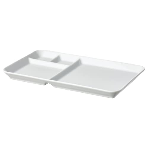 IKEA 365+ Plate with compartments, white, 31x19 cm