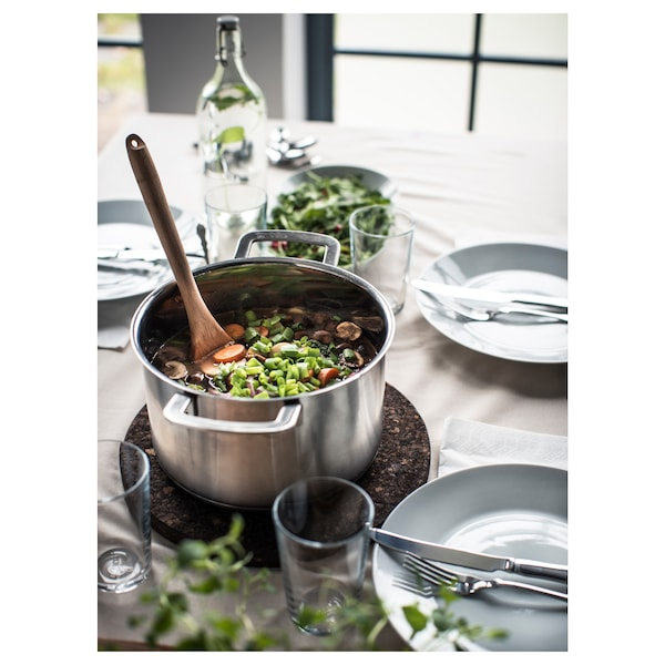 IKEA 365+ Pot with lid, stainless steel/glass, 5 l