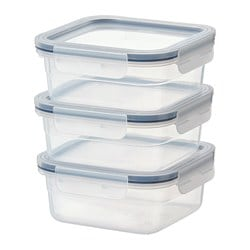 IKEA 365+ food container, square, plastic