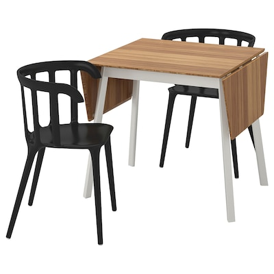 IKEA PS 2012 Table and 2 chairs, bamboo/black, 74 cm