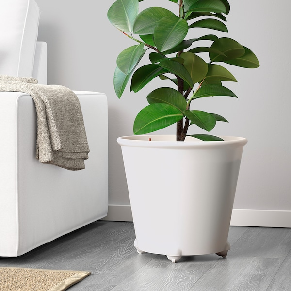 IKEA PS FEJÖ Self-watering plant pot, white, 32 cm