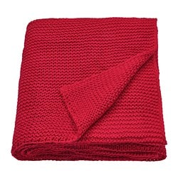 INGABRITTA throw, red