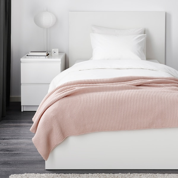 INGABRITTA throw pale pink 170 cm 130 cm 1080 g