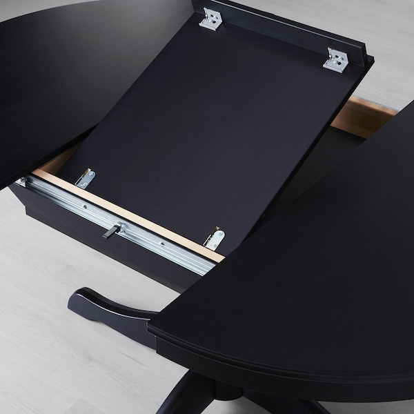 INGATORP extendable table black 155 cm 74 cm 110 cm