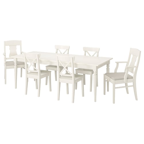 IKEA INGATORP / INGOLF Table and 6 chairs