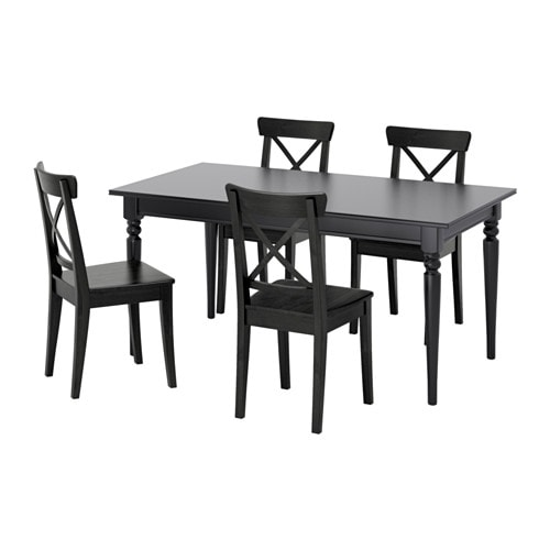 ingatorp ingolf table and 4 chairs ikea. Black Bedroom Furniture Sets. Home Design Ideas