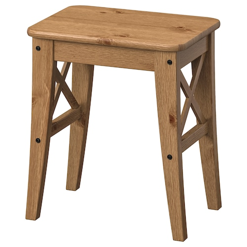 INGOLF stool antique stain 100 kg 40 cm 30 cm 45 cm 40 cm 30 cm 45 cm