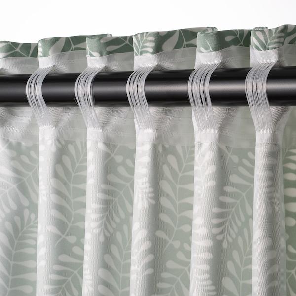 INGVARDA curtains, 1 pair floral patterned 250 cm 145 cm 2 pack