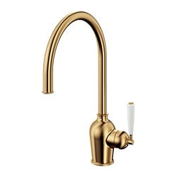 INSJÖN kitchen mixer tap, brass-colour