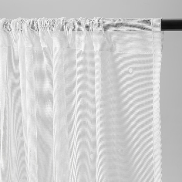 IRMALI Sheer curtains, 1 pair, white dots, 145x250 cm