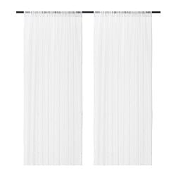 IRMALI sheer curtains, 1 pair, white dots