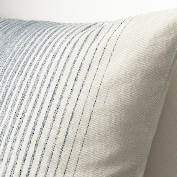 ISPIGG Cushion cover, blue/natural, 50x50 cm