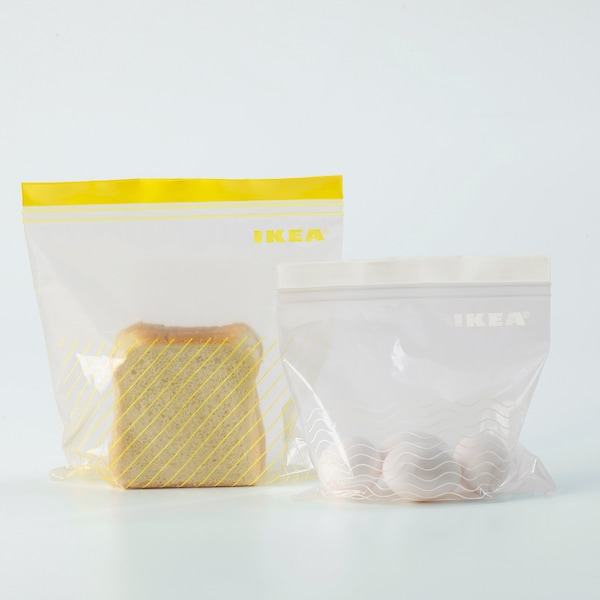 ISTAD Resealable bag, yellow/white