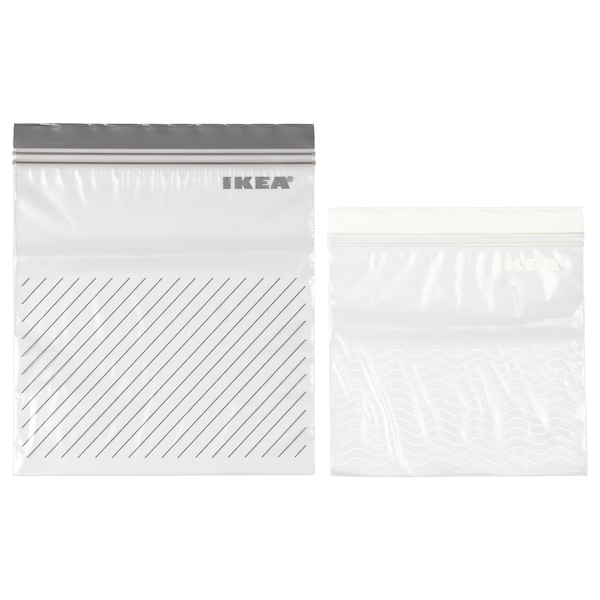 ISTAD resealable bag grey/white 50 pack