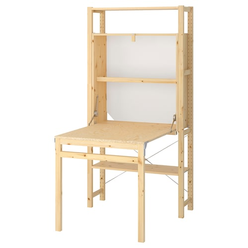 IVAR 1 sec/storage unit w foldable table 89 cm 179 cm 30 cm 104 cm