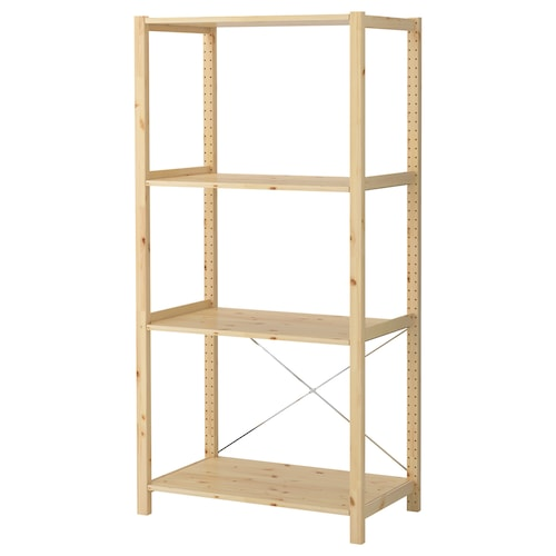 IVAR 1 section/shelves pine 89 cm 50 cm 179 cm