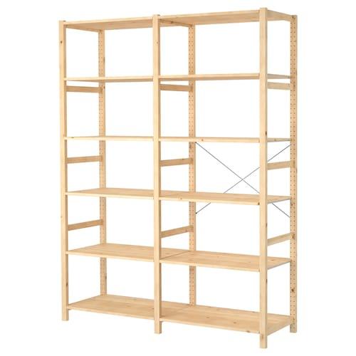 IVAR 2 sections/shelves pine 174 cm 50 cm 226 cm