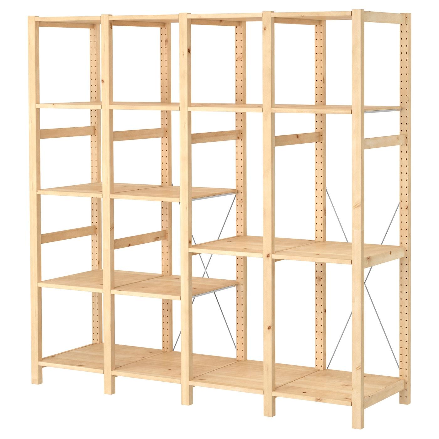 Ivar 4 Sections Shelves Pine Ikea