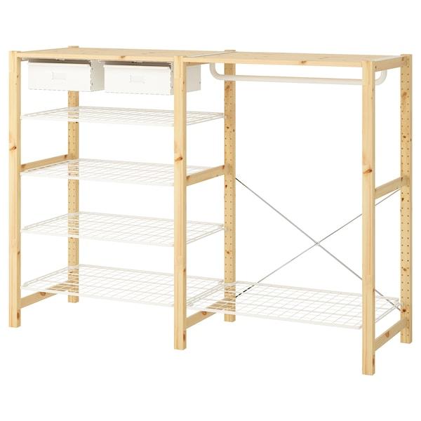 IVAR shelving unit w shelves/drwrs/rail 174 cm 50 cm 124 cm