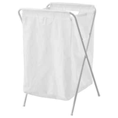 JÄLL Laundry bag with stand, white, 70 l