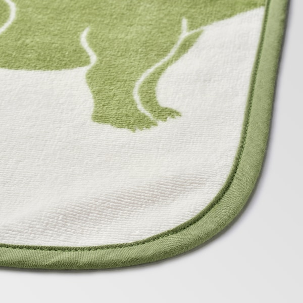 JÄTTELIK Towel with hood, dinosaur/multicolour, 140x70 cm