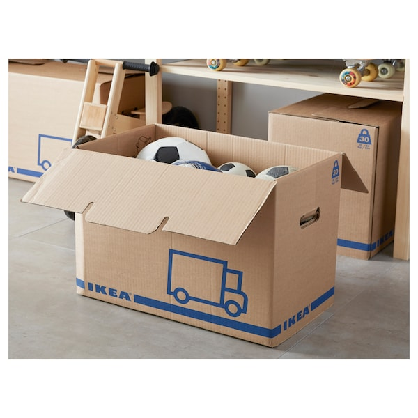 JÄTTENE packaging box brown 56 cm 33 cm 41 cm 30 kg 62 l 2 pack