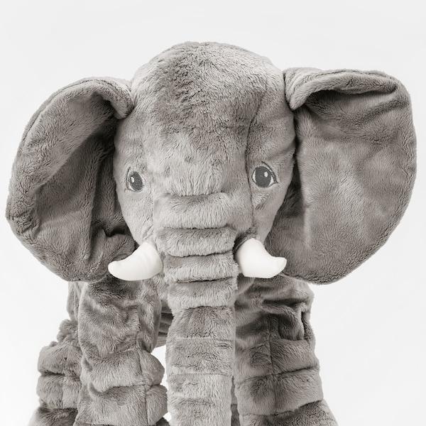 JÄTTESTOR soft toy elephant/grey 60 cm