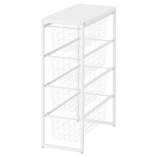JONAXEL frame/wire baskets/top shelf 25 cm 51 cm 70 cm