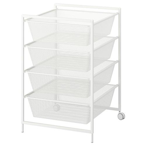 IKEA JONAXEL Frame with mesh baskets/castors