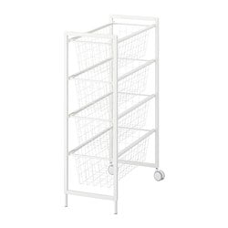 JONAXEL frame with wire baskets/castors