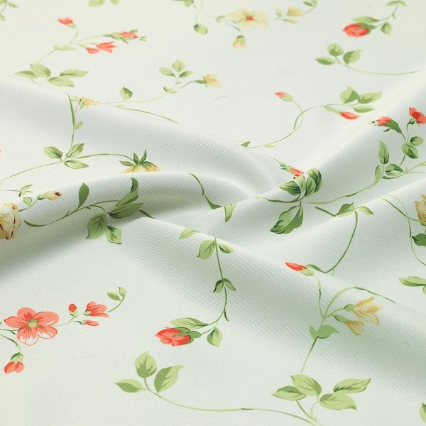 JUNETTE Block-out curtains, 1 pair, light beige/small flowers, 145x250 cm