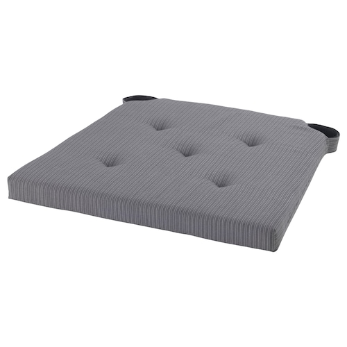 JUSTINA Chair pad, grey, 35/42x40x4.0 cm