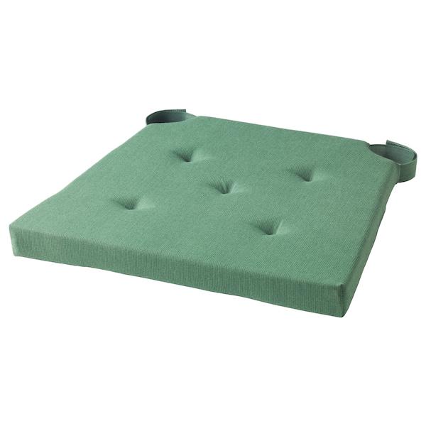 JUSTINA chair pad green 35 cm 42 cm 40 cm 4.0 cm