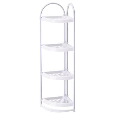 KÄGLAN Corner shelf, white, 85 cm