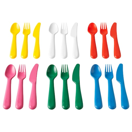 KALAS 18-piece cutlery set multicolour