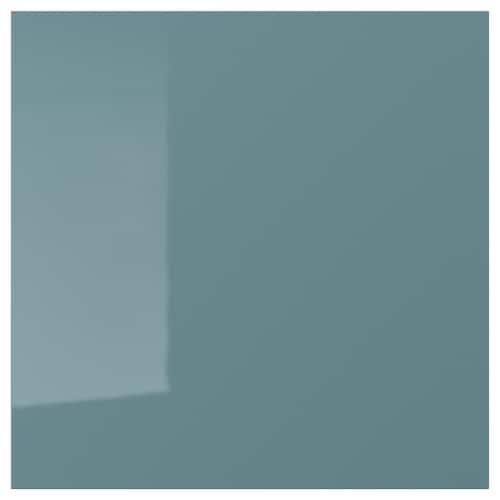 KALLARP drawer front high-gloss grey-turquoise 39.7 cm 40 cm 40 cm 39.7 cm 1.6 cm