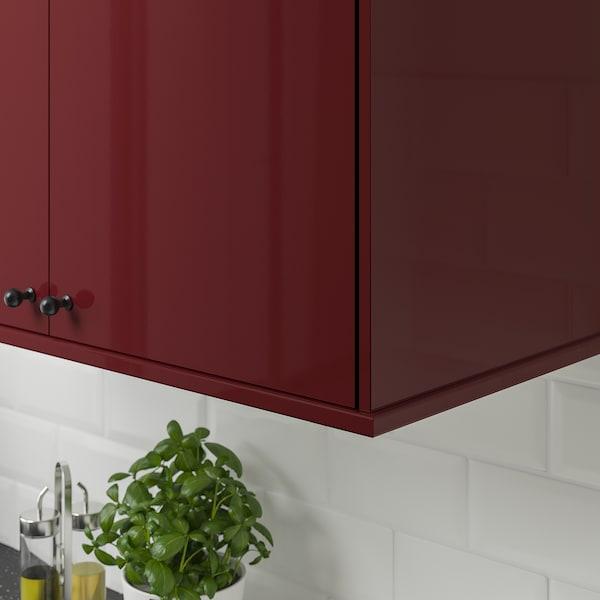 KALLARP rounded deco strip/moulding high-gloss dark red-brown 221 cm 6 cm 2 cm