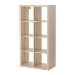 KALLAX shelving unit, white stained oak effect
