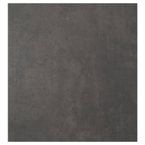 KALLVIKEN Door, dark grey concrete effect, 60x64 cm
