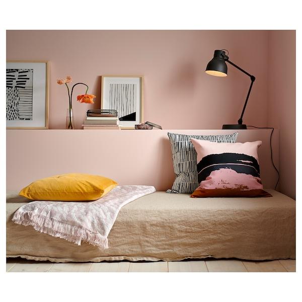KAPASTER throw white/pink 170 cm 130 cm