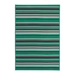 KÄRBÄK rug flatwoven, in/outdoor, green